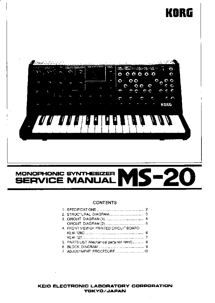 KORG M3 SM Service Manual download, schematics, eeprom