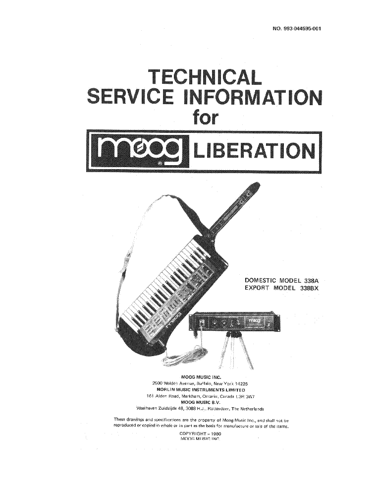 MOOG LIBERATION Service Manual download, schematics