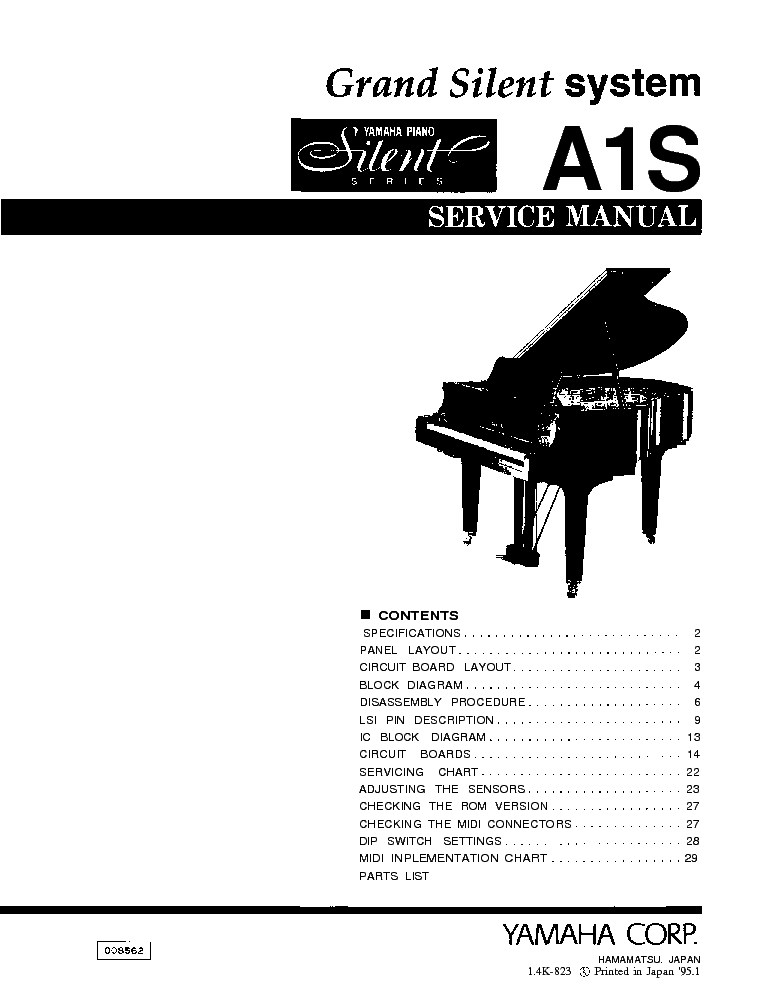 YAMAHA A1S SM Service Manual download, schematics, eeprom