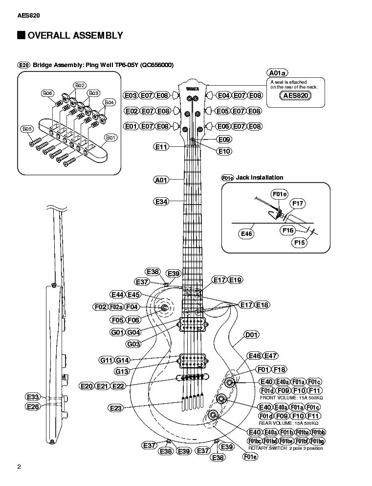 YAMAHA AES820 Service Manual download, schematics, eeprom