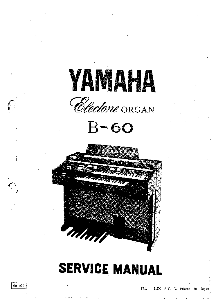 YAMAHA CLP-340 340M 340C Service Manual free download