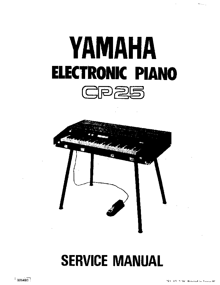 YAMAHA CP25 SM Service Manual download, schematics, eeprom