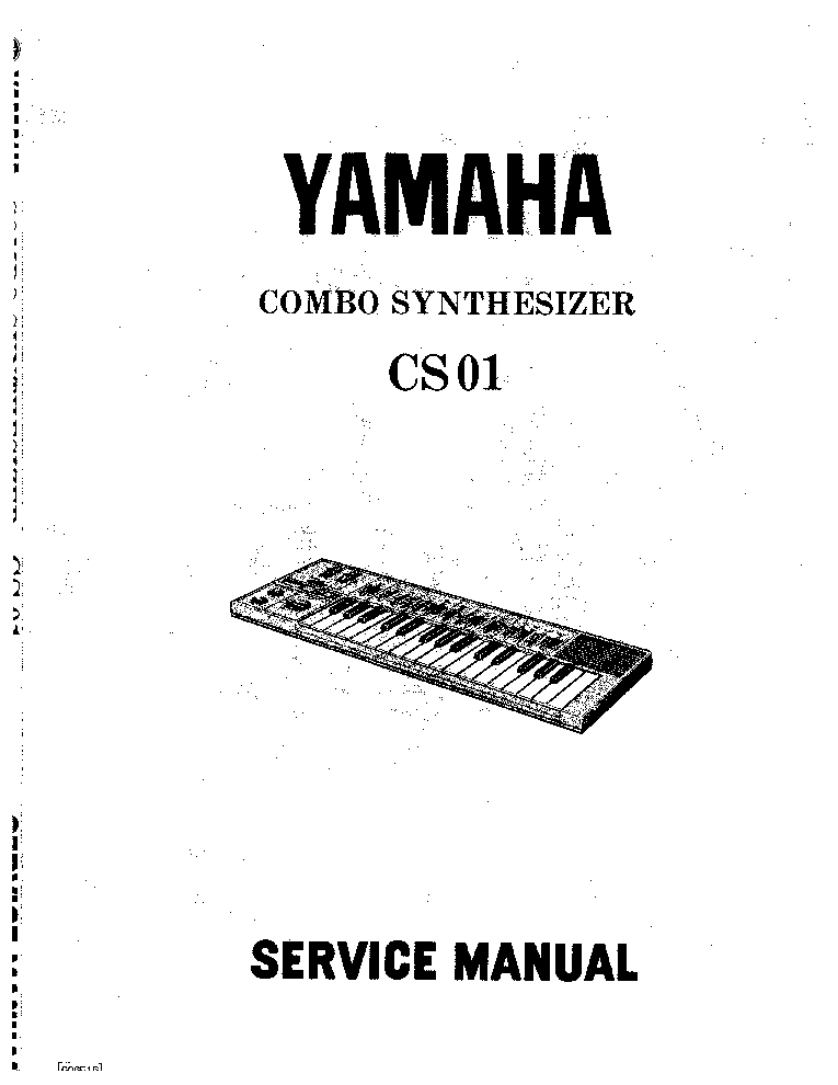 YAMAHA RBX774 RBX775 SM Service Manual free download