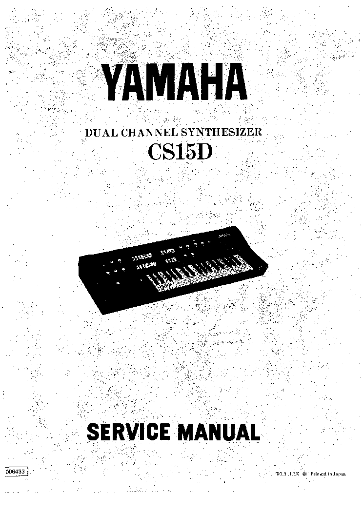 YAMAHA CS15D SM Service Manual download, schematics