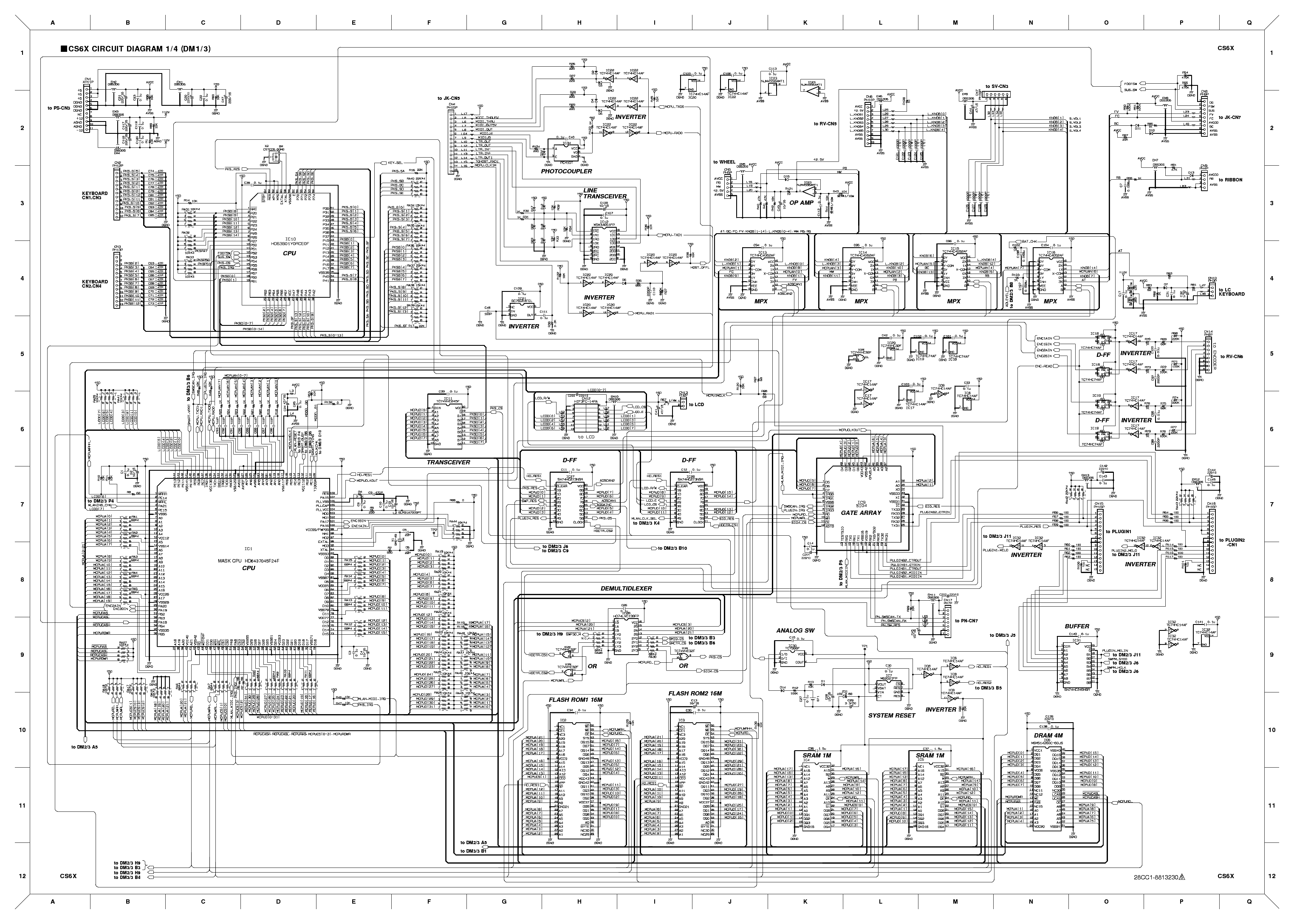 YAMAHA CS6X SCH Service Manual download, schematics