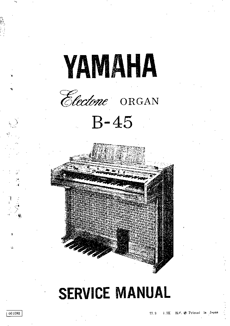 YAMAHA ELECTONE B-45 Service Manual download, schematics