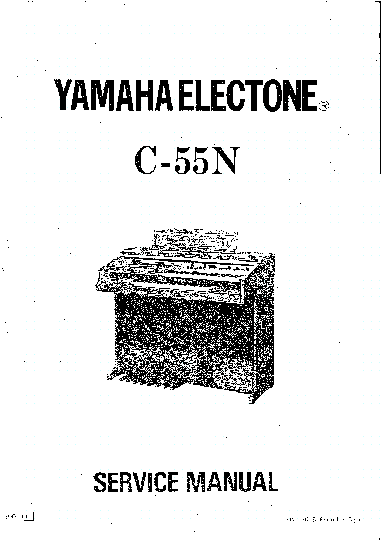 YAMAHA ELECTONE C-55N Service Manual download, schematics