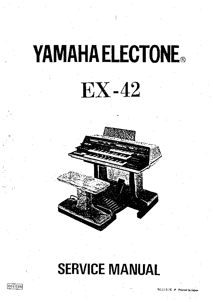 YAMAHA EX-42 Service Manual download, schematics, eeprom