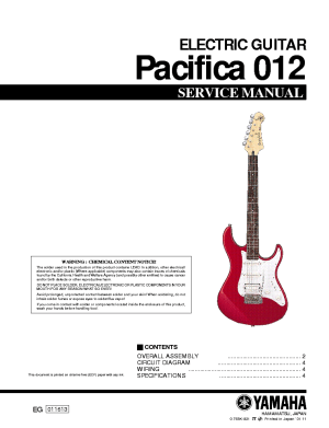 YAMAHA PACIFICA 012 Service Manual download, schematics, eeprom, repair info for electronics experts