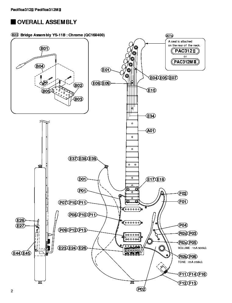 YAMAHA PACIFICA 312II 312M II Service Manual download
