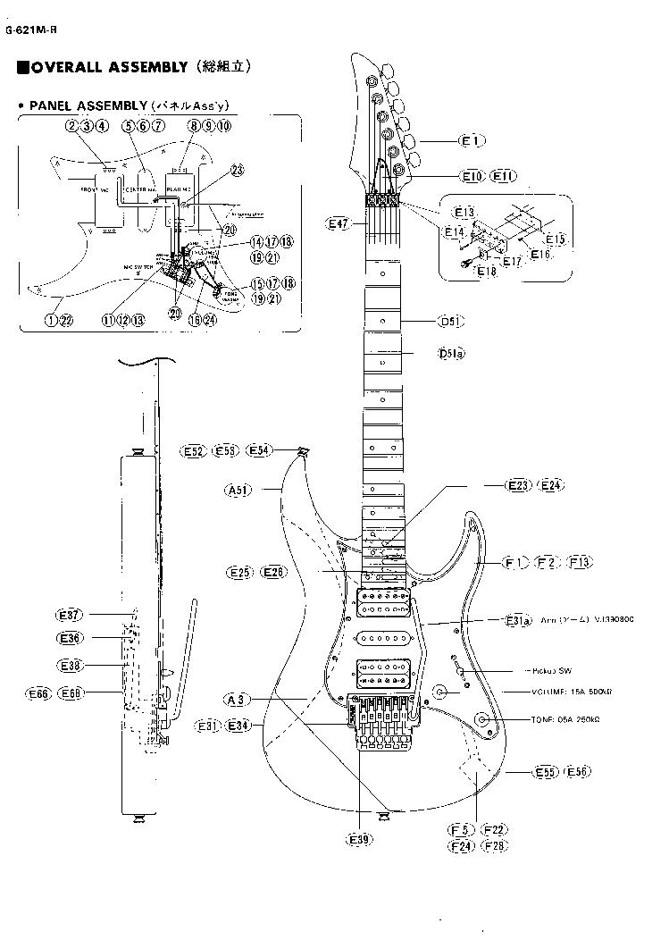 YAMAHA YG-621M-R GUITAR Service Manual download