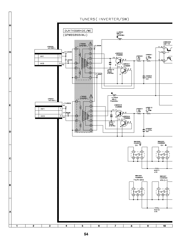 SHARP CB550U SCH Service Manual free download, schematics
