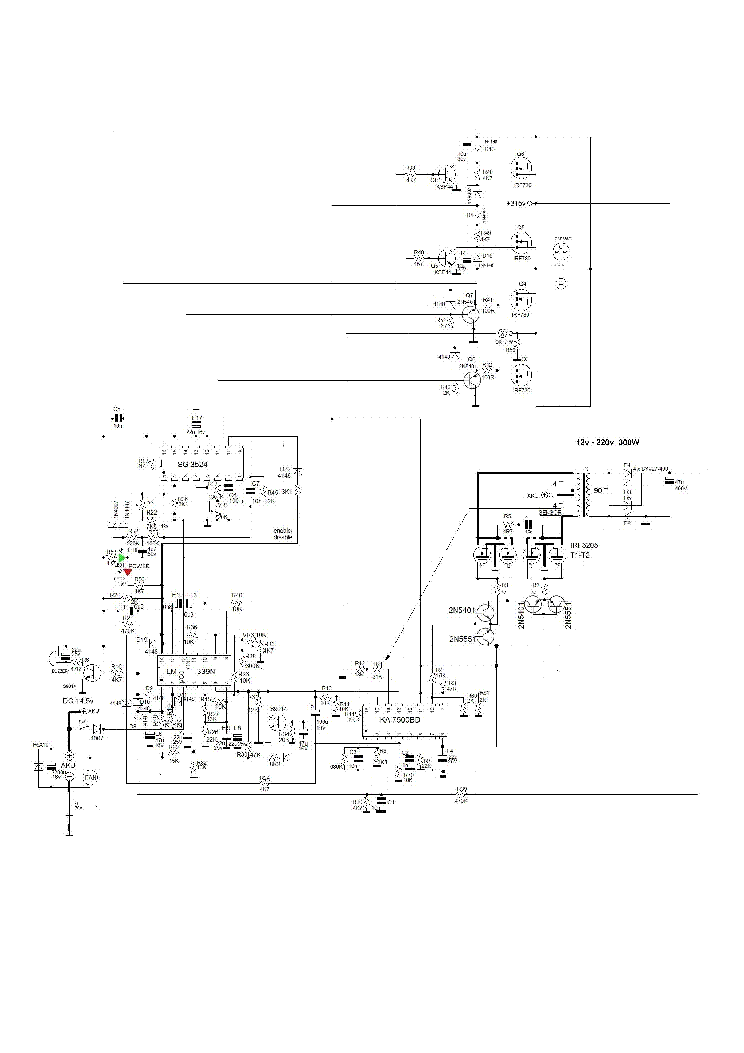 TGR POWER ZTP300 12V-220V INVERTER SCHEMATIC Service
