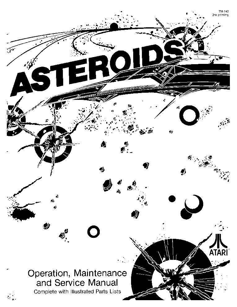 ATARI ASTEROIDS Service Manual download, schematics