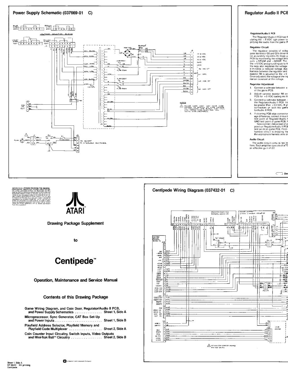 medium resolution of atari centipede sch service manual 1st page