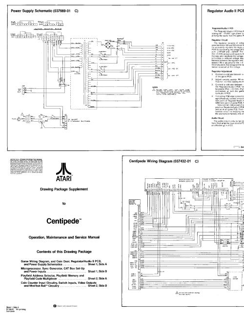small resolution of atari centipede sch service manual 1st page
