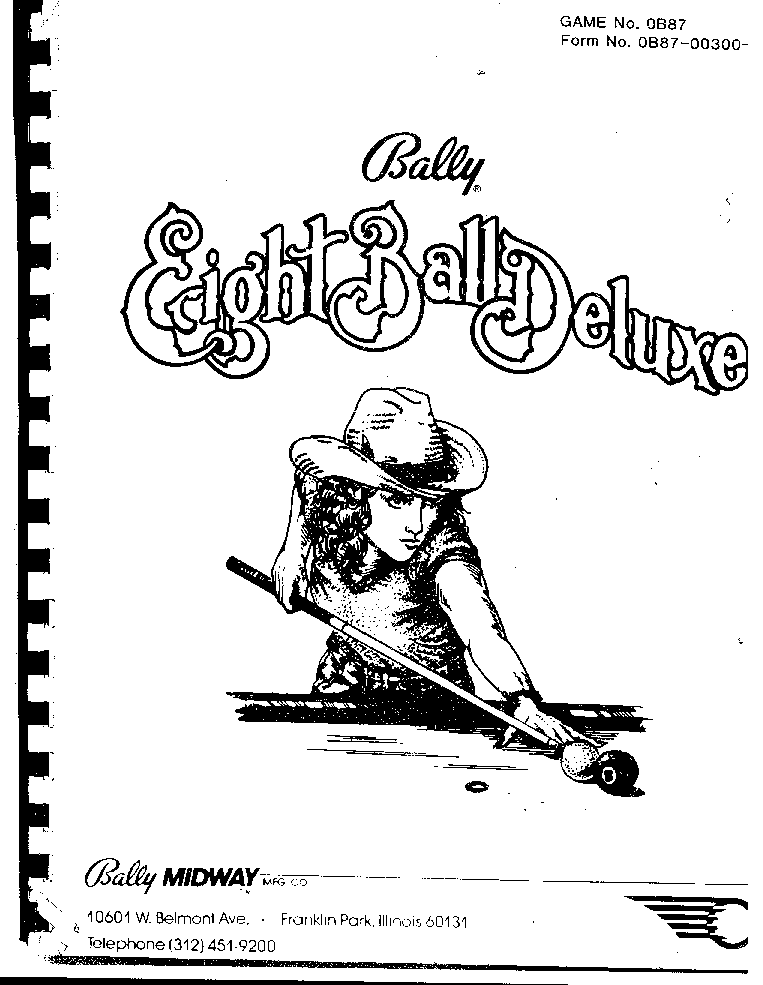 BALLY BOW AND ARROW Service Manual download, schematics