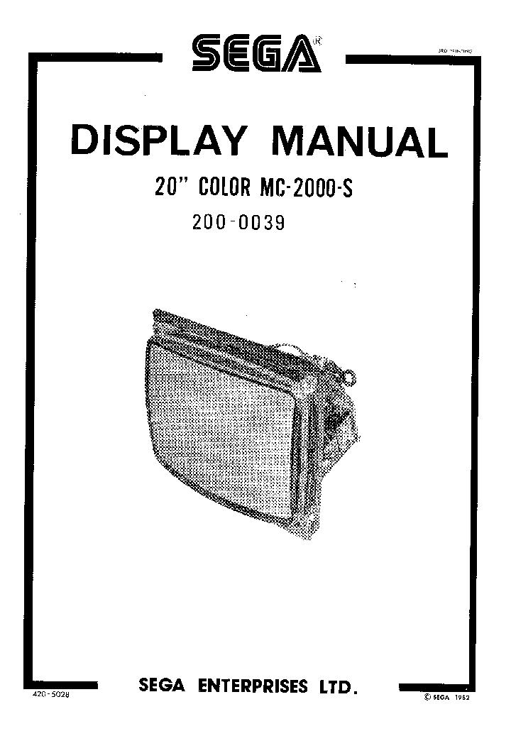 SEGA MEGADRIVE 439 SCH Service Manual download, schematics