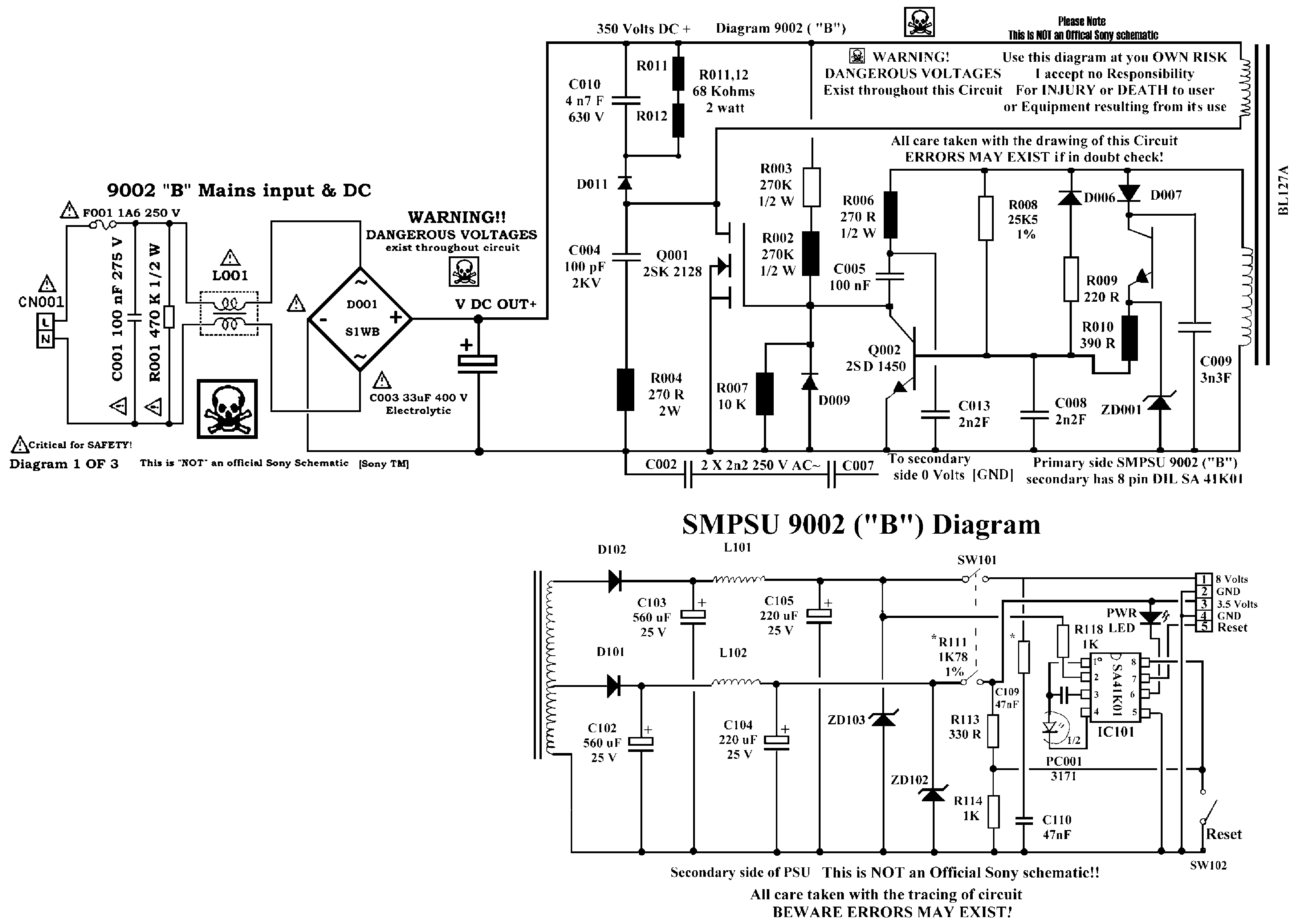 playstation 1 schematic diagram
