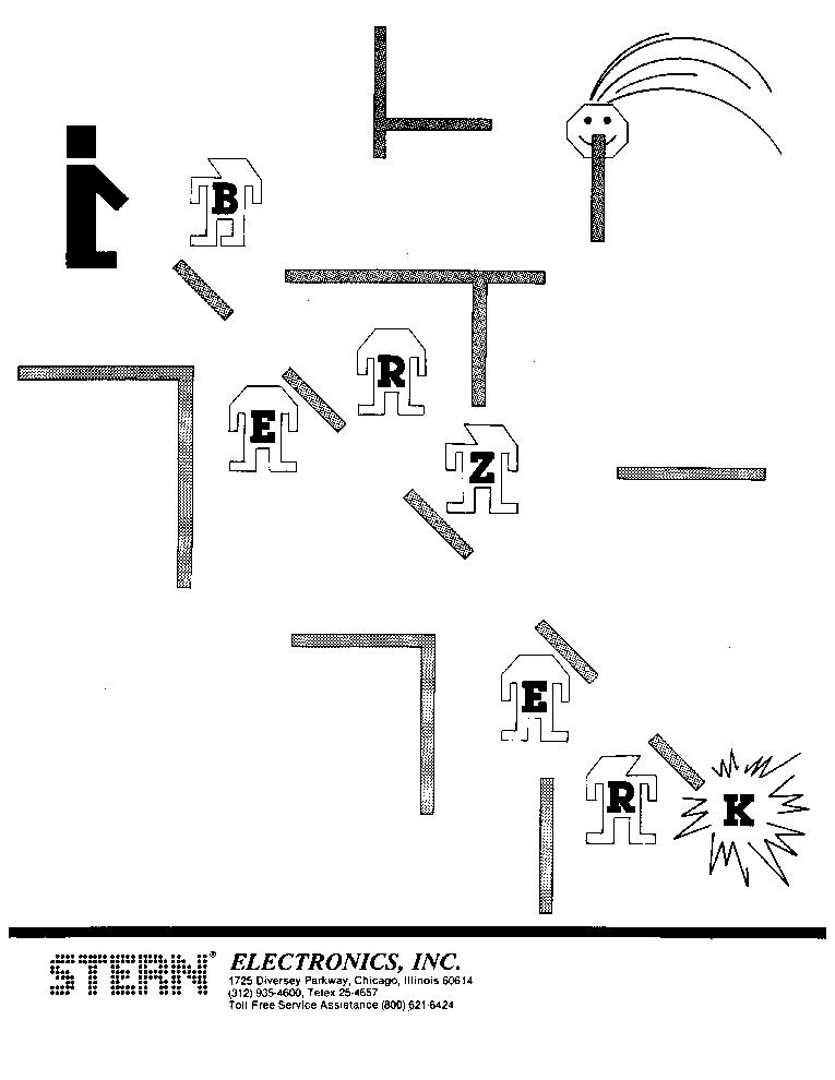 STERN BERZERK Service Manual download, schematics, eeprom