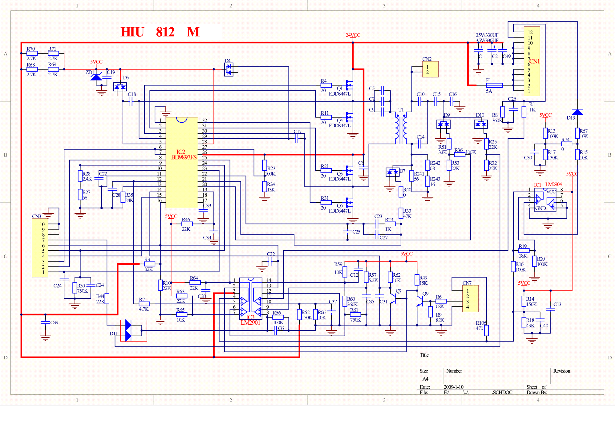 hight resolution of hpc 1654e hiu 812 s hiu812 m lcd tv inverter service manual download lcd tv inverter circuit diagram