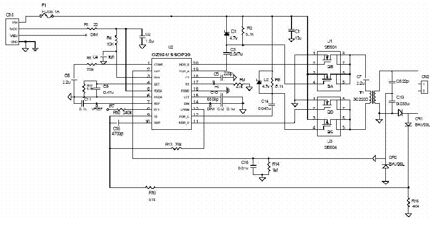 INVERTER LCD OZ964 Service Manual download, schematics