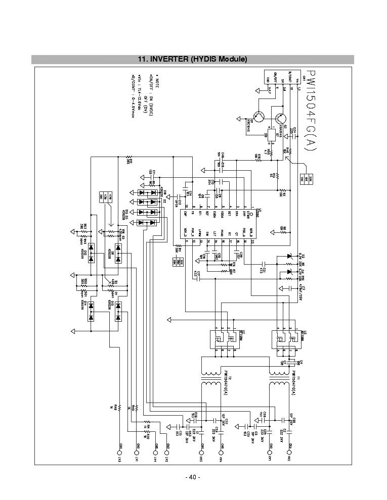 NCP1200D60 OZ960GN PW1504FG LG-L1710 Service Manual