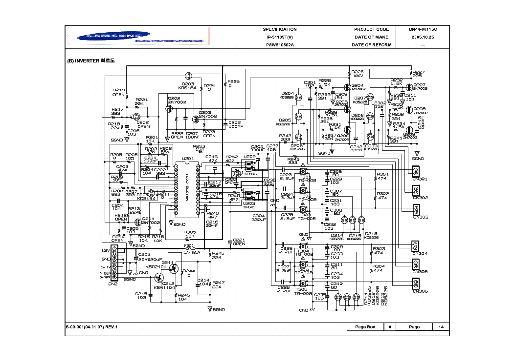 SAMSUNG BN44-00115C Service Manual download, schematics