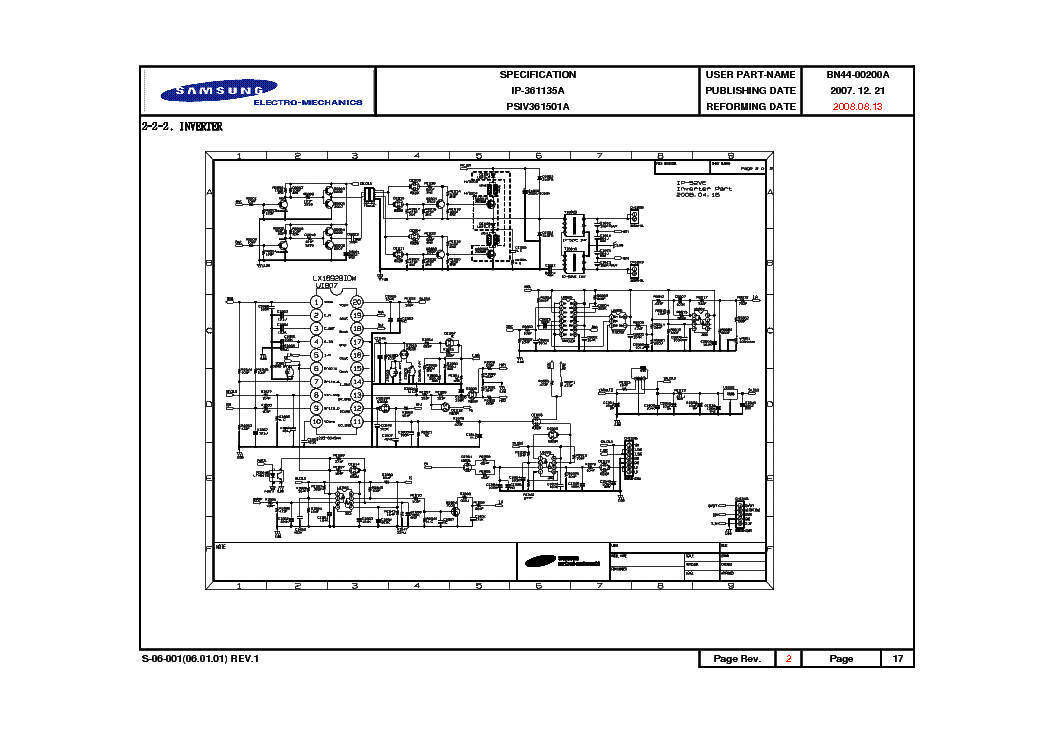 SAMSUNG BN44-00200A Service Manual download, schematics