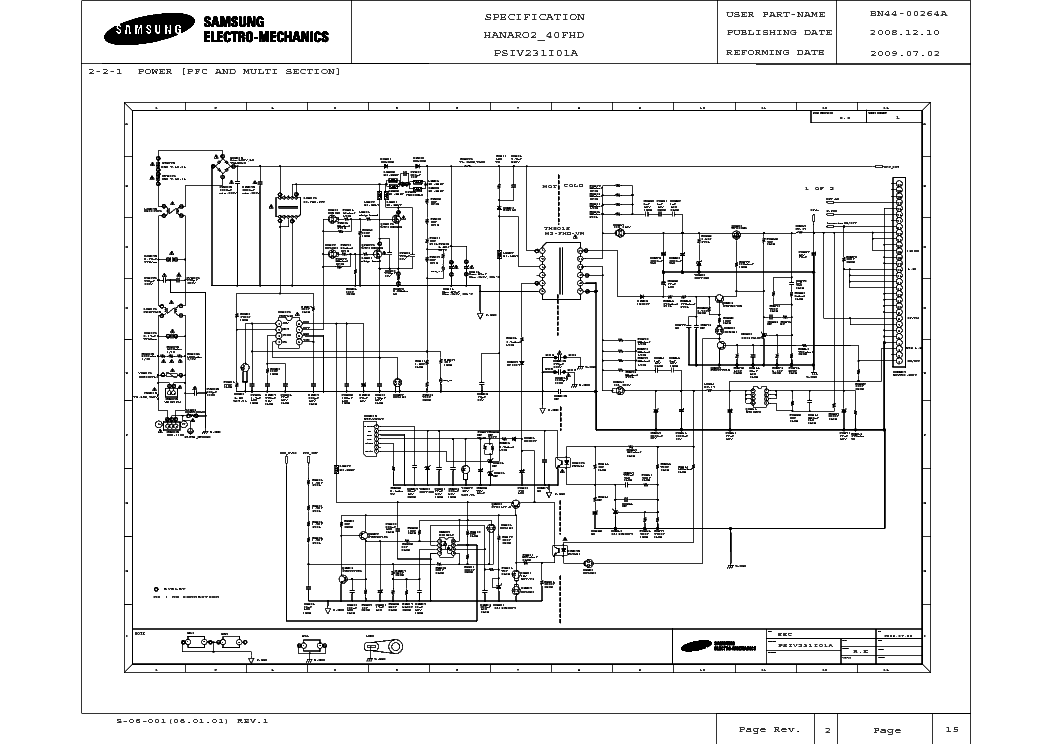 SAMSUNG BN44-00264A Service Manual download, schematics