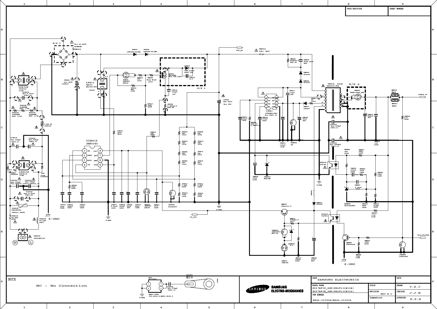SAMSUNG BN44-00351A Service Manual download, schematics