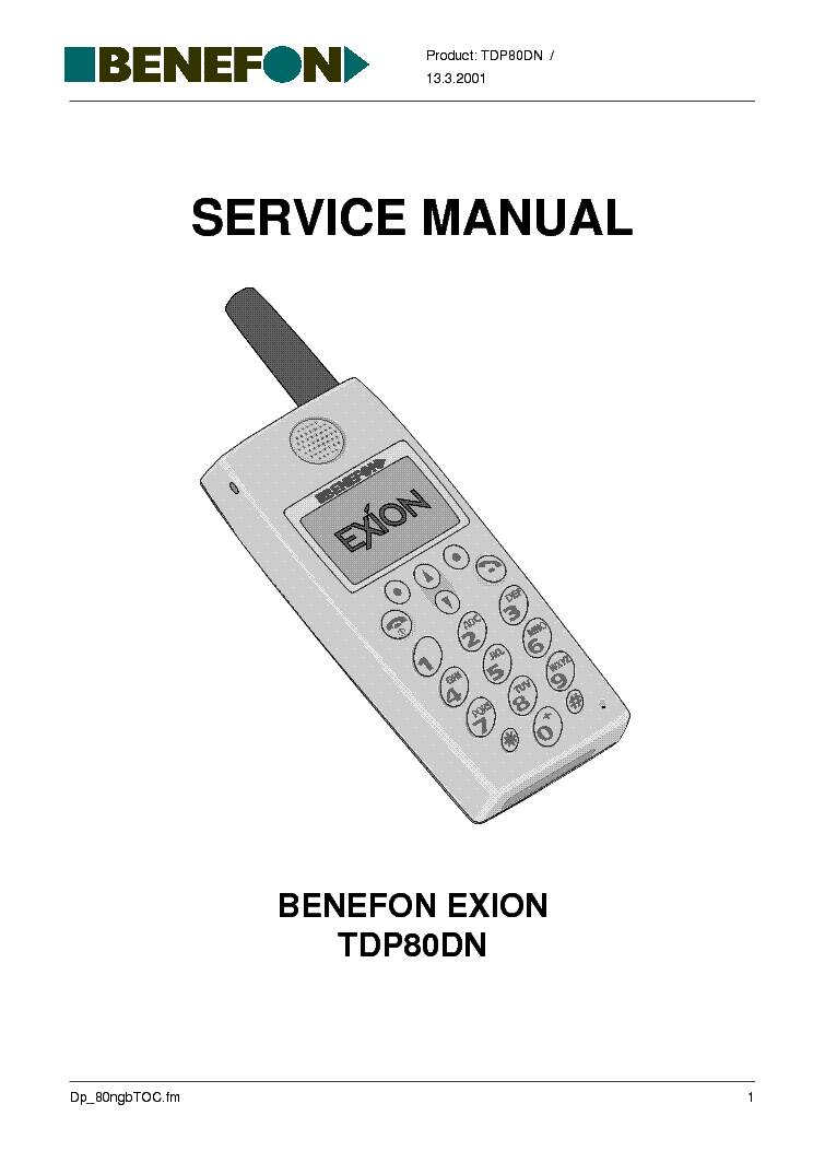 BENEFON FORTE TDM-20-N SM Service Manual download