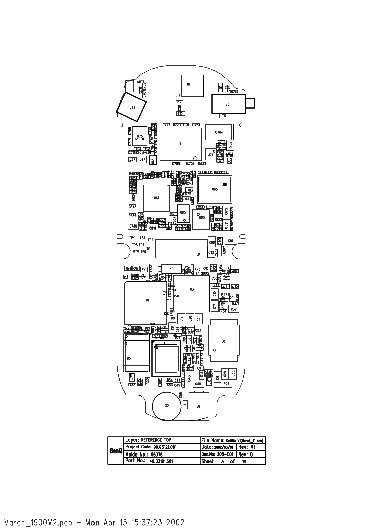 MOTOROLA W375 L3 SCH Service Manual download, schematics