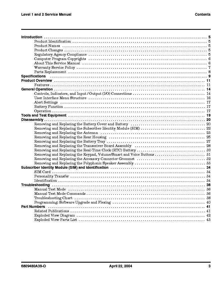MOTOROLA V220 LEVEL 1 2 SM Service Manual download