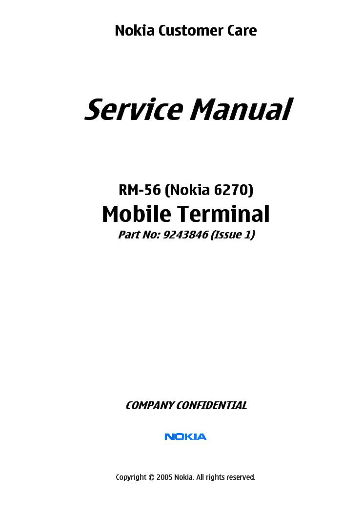 NOKIA-6060 RH-73 Service Manual free download, schematics