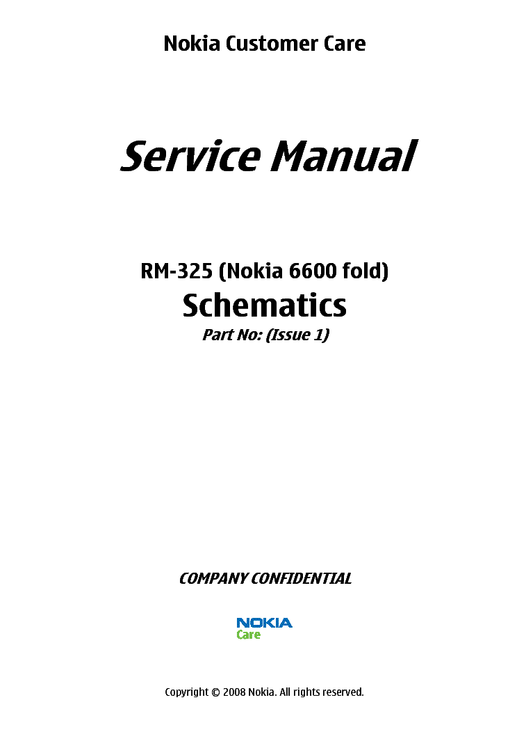 NOKIA 6500 RM-240 SCHEMATICS Service Manual download