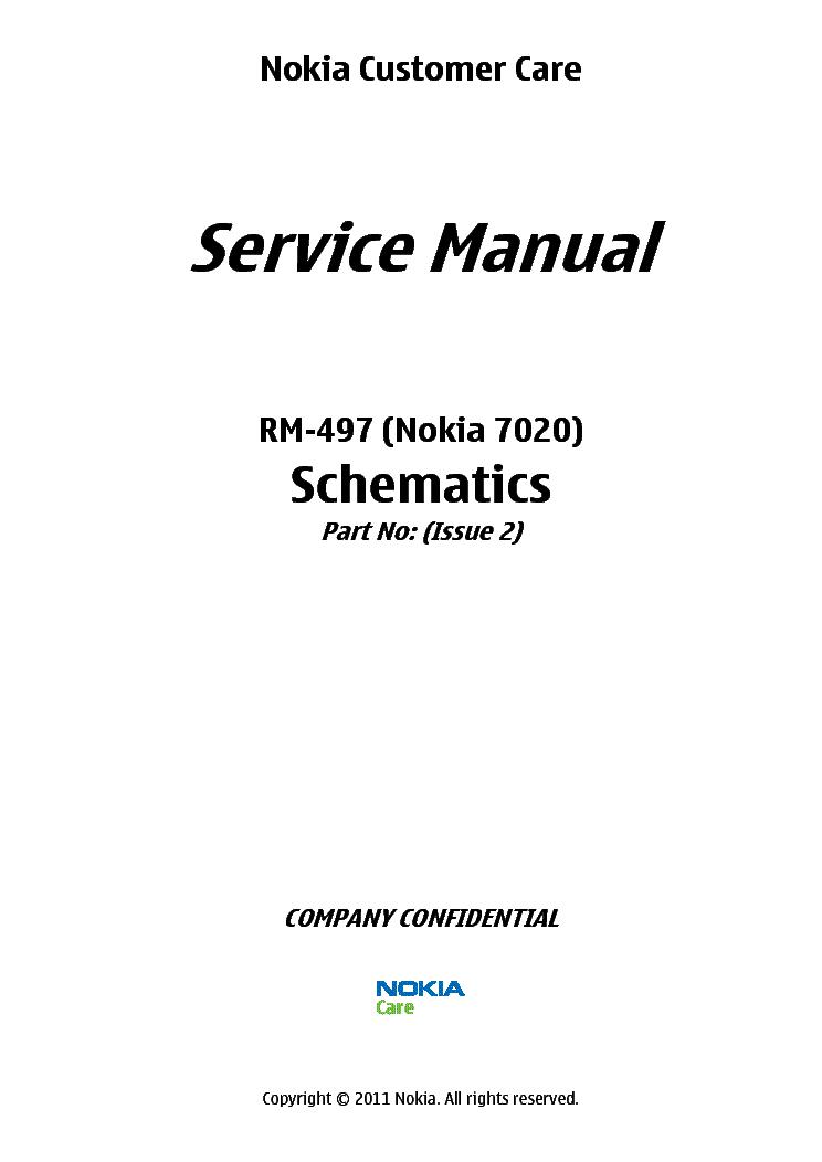 NOKIA 7020 RM-497 SCH Service Manual download, schematics
