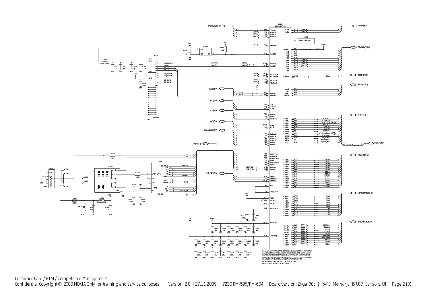 hight resolution of schematic diagram 7230 wiring diagram technicnokia 7230 rm 598 rm 604 sch service manual download