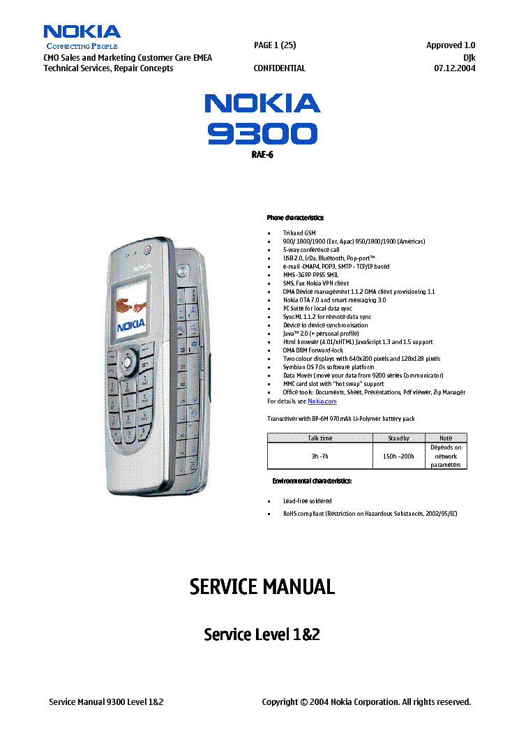 NOKIA 3210 NSE-8,NSE-9 Service Manual free download