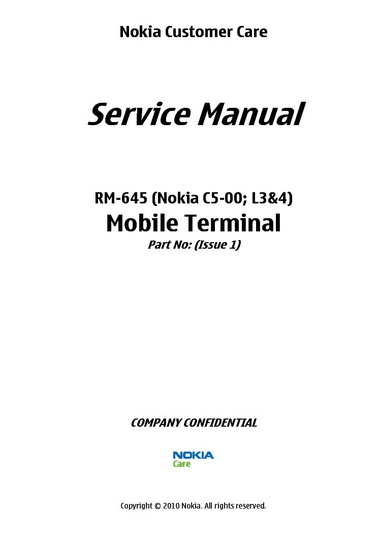 NOKIA E7-00 RM-626 SCHEMATICS V1.0 SCH Service Manual