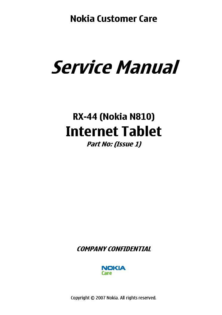 NOKIA LUMIA 800 RM-801 819 SERVICE MANUAL L1L2 V2 Service