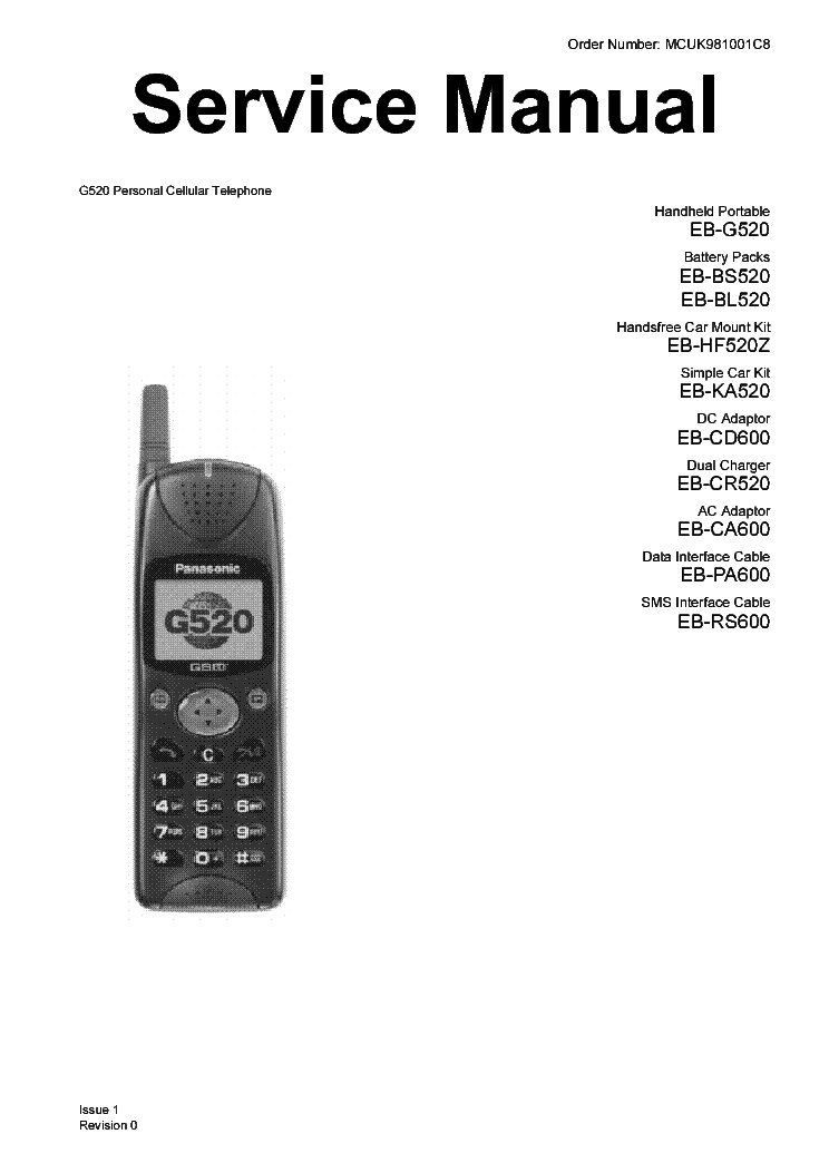 PANASONIC EB-GD52-92 GSM TELEFON Service Manual download