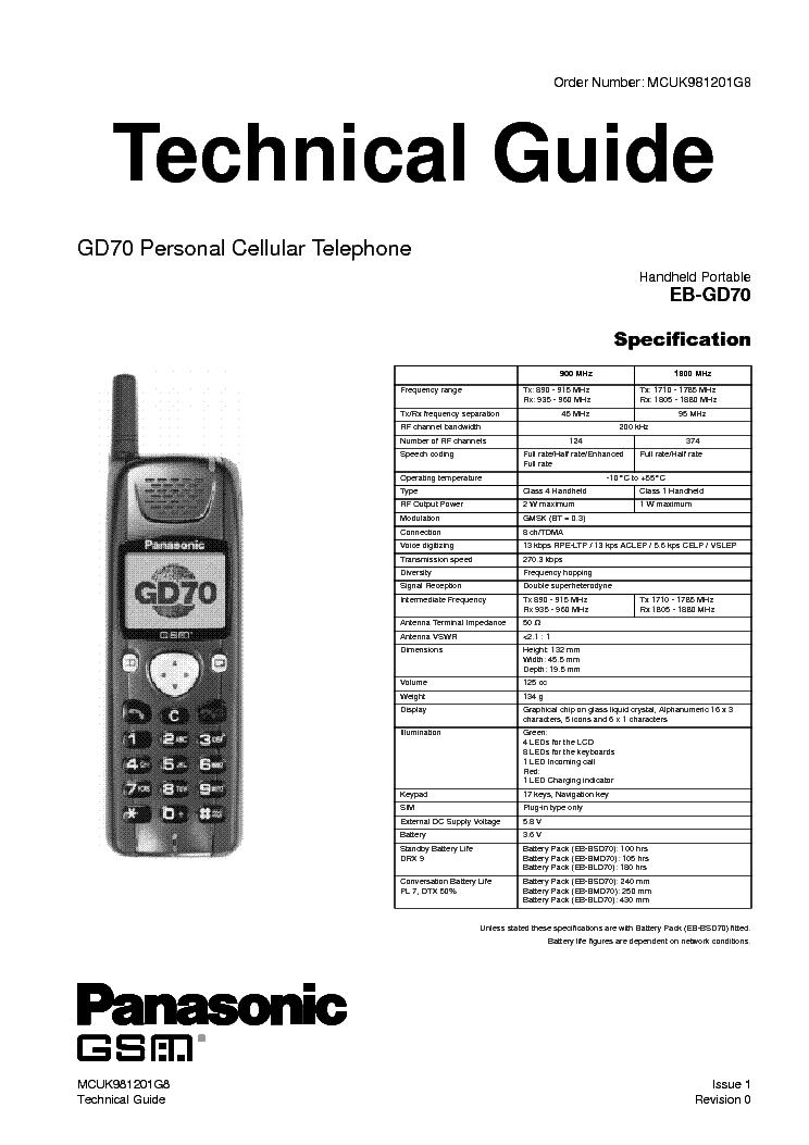 PANASONIC EB-GD52 EB-GD92 EB-GD92 Service Manual free
