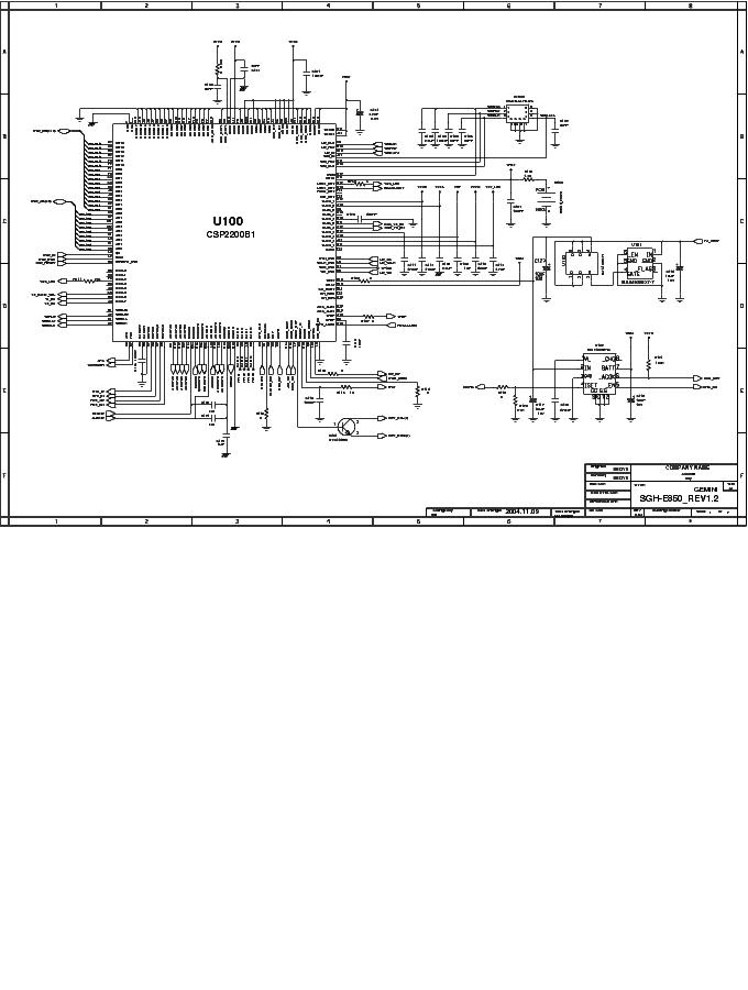 SAMSUNG E850 SCH Service Manual download, schematics