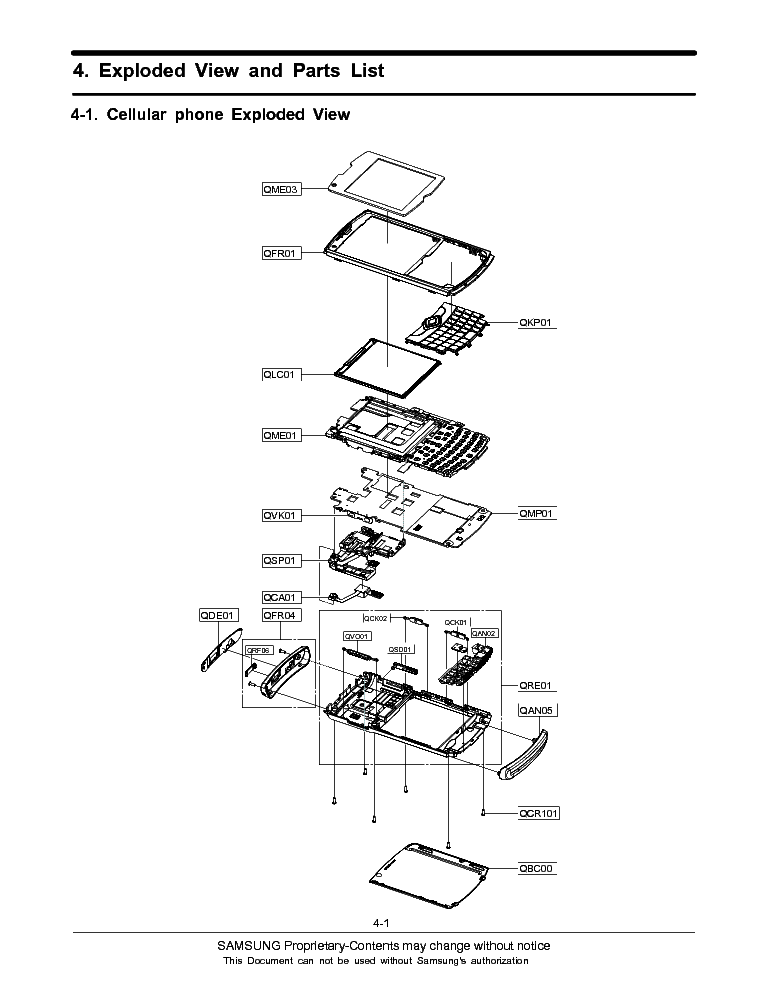 SAMSUNG GT-B7350 Service Manual download, schematics