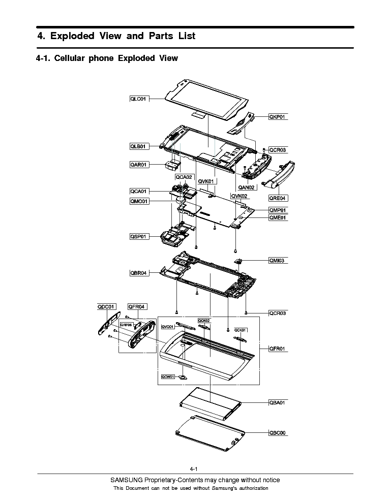 SAMSUNG GT-S8500L WAVE4-EXPLODED-VIEW Service Manual