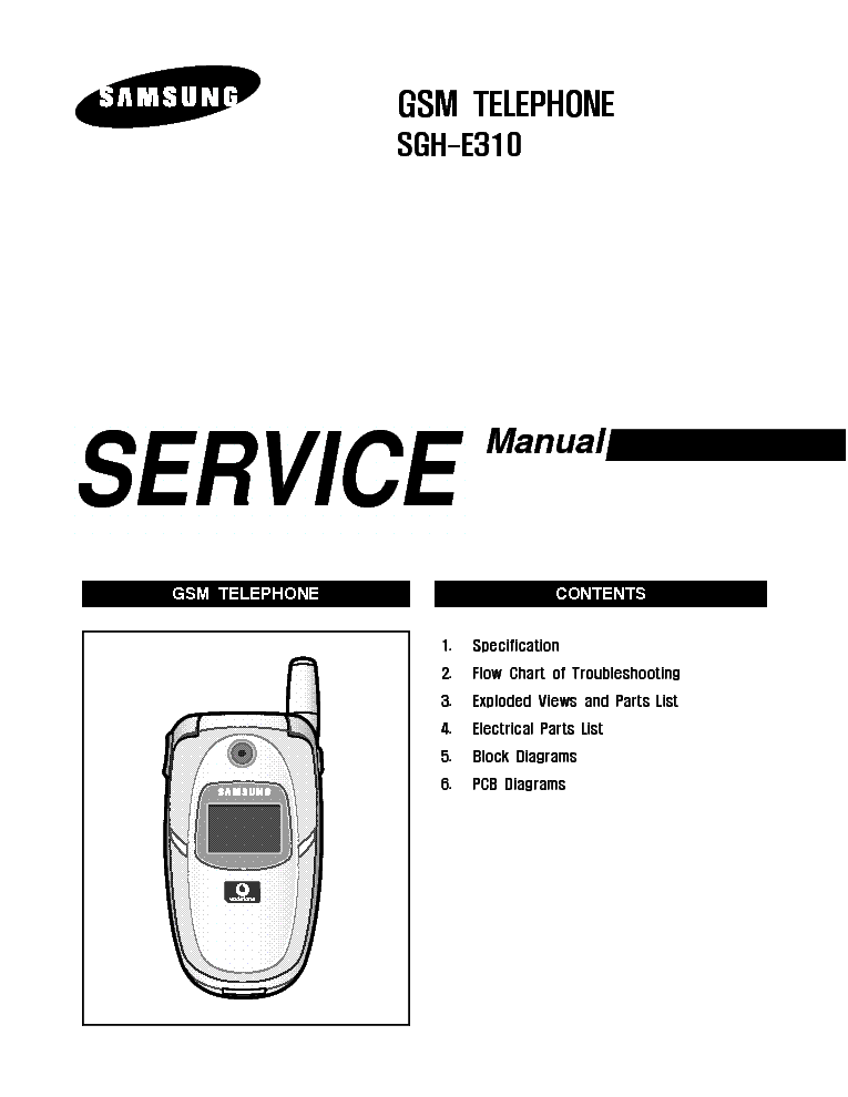 SAMSUNG SGH-E310 SERVICE MANUAL Service Manual download