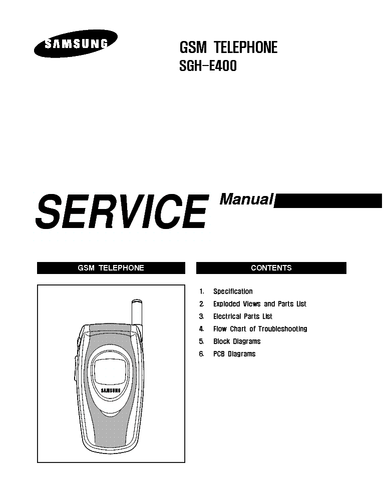 SAMSUNG GT-M3710 GT-M3710L CORBY BEAT SERVICE MANUAL