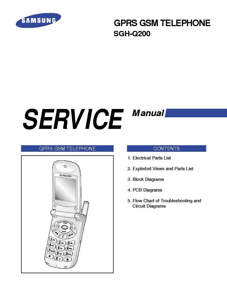 SAMSUNG GT-E1160 SM Service Manual download, schematics