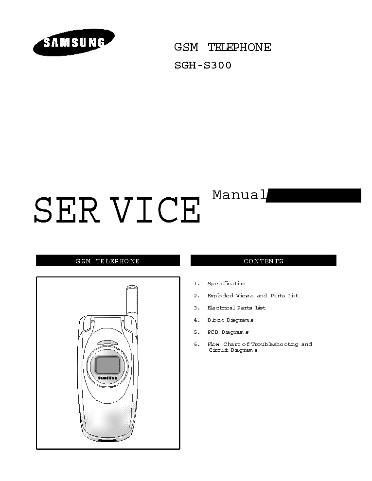 SAMSUNG SGH-S300 Service Manual download, schematics